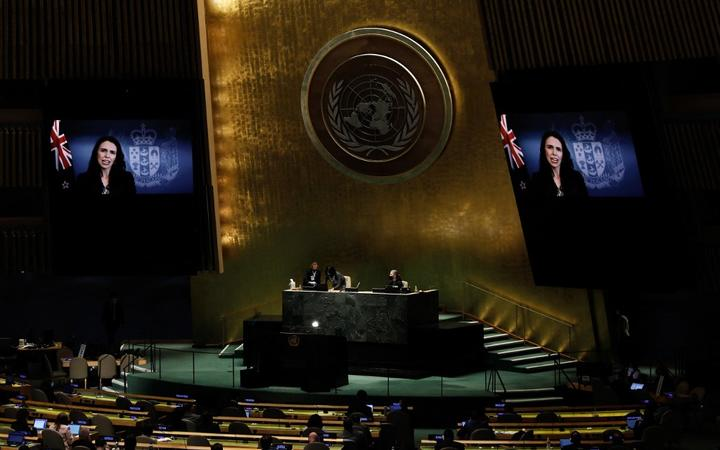 NZ Prime Minister Jacinda Ardern addresses UN General Assembly about Covid